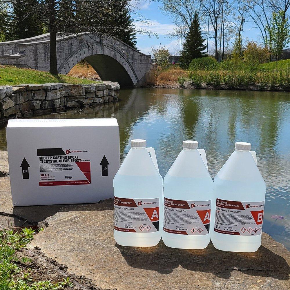 Pro Series Thin Cat Epoxy Resin by Designer Epoxy, 3 Gallon kit